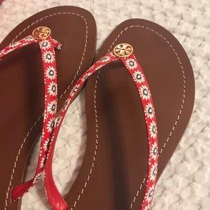 New in box, Tory Burch thong sandal/ flip flop, 10